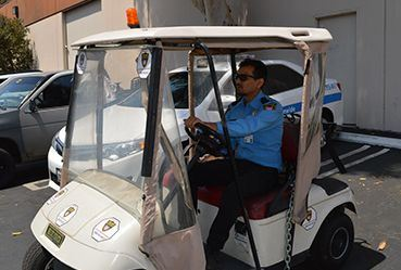 Image of golf cart security guard, Security Guard Company Los Angeles, Allied Nationwide Security