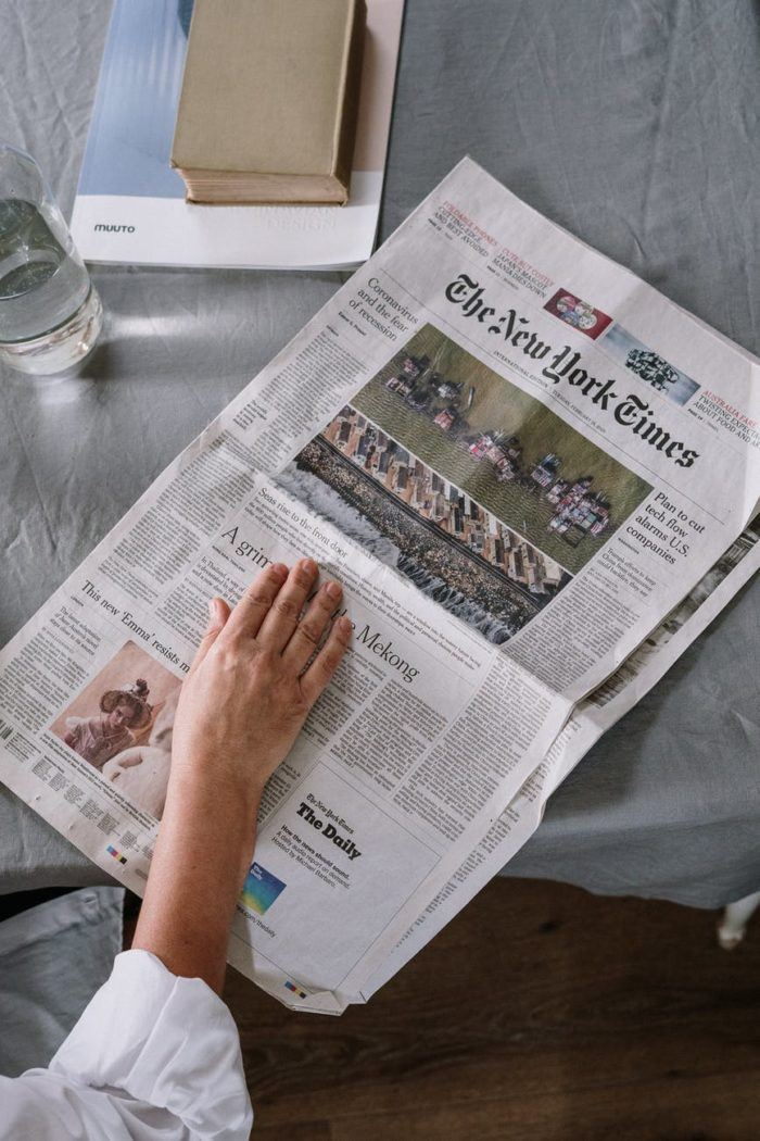 Image of reading a newspaper, Security guard company in Los Angeles, Allied Nationwide Security